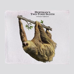 Hoffman's Two-Toed Sloth Throw Blanket