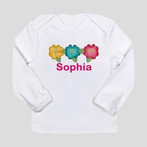 sophia's tropical flowe Long Sleeve Infant T-Shirt