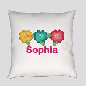 sophia's tropical flower personali Everyday Pillow