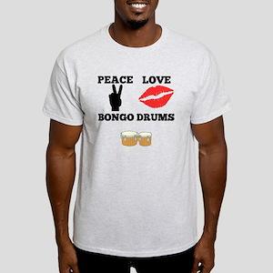 Peace Love Bongo Drums T-Shirt