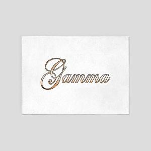 Gold Gamma 5'x7'Area Rug