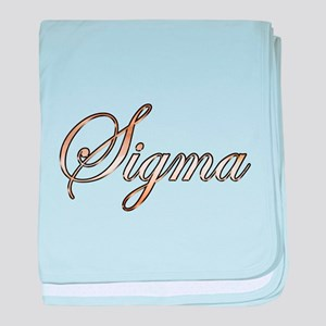 Gold Sigma baby blanket