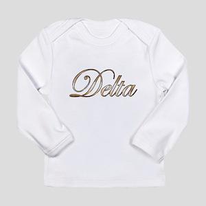 Gold Delta Long Sleeve T-Shirt