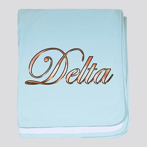 Gold Delta baby blanket