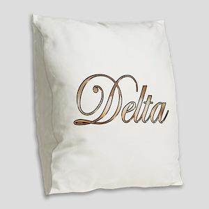 Gold Delta Burlap Throw Pillow