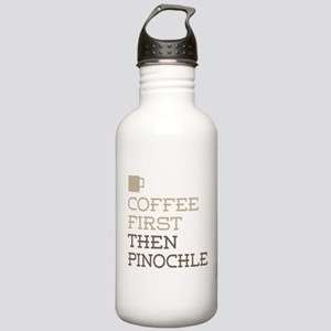 Coffee Then Pinochle Stainless Water Bottle 1.0L