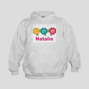 natalie's tropical flower personalized Kids Hoodie