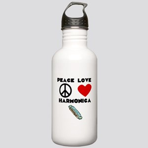 Peace Love Harmonica Water Bottle