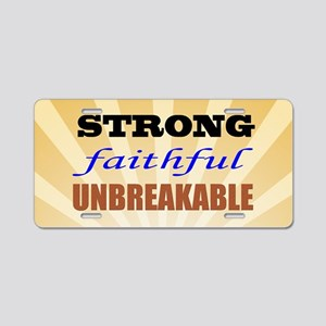 Strong Faithful Unbreakable Aluminum License Plate