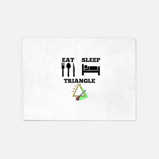 Eat Sleep Triangle 5'x7'Area Rug