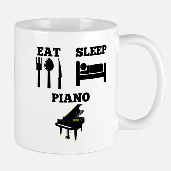Eat Sleep Piano Mugs