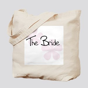 The Bride Pink Flowers Tote Bag