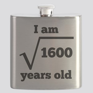 40th Birthday Square Root Flask