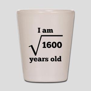 40th Birthday Square Root Shot Glass