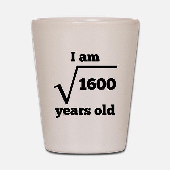 40th Birthday Square Root Shot Glass