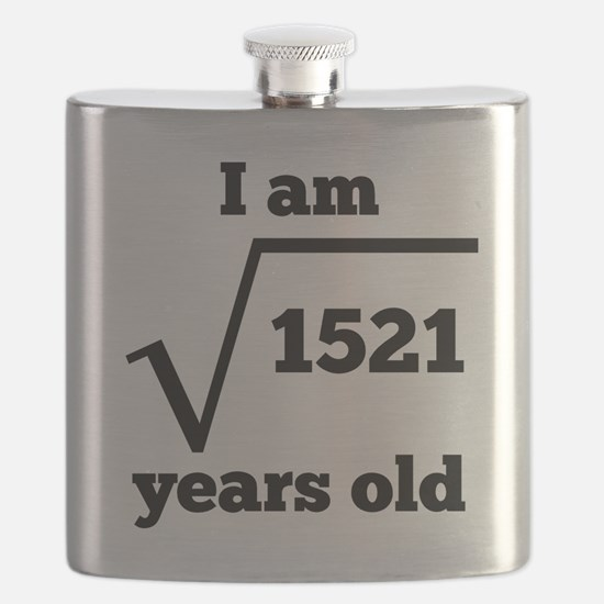 39th Birthday Square Root Flask