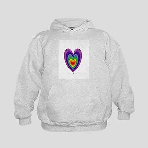 Chakras Balanced Heart Shape Kids Hoodie
