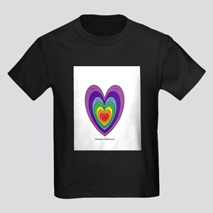 Chakras Balanced Heart Shape T-Shirt