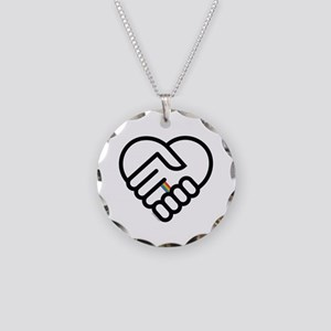 love= Necklace Circle Charm
