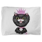 Cartoon Cat Princess (BW) Pillow Sham
