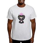Cartoon Cat Princess (BW) Light T-Shirt