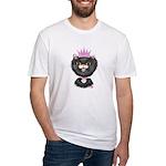 Cartoon Cat Princess (BW) Fitted T-Shirt