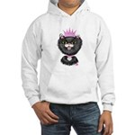 Cartoon Cat Princess (BW) Hooded Sweatshirt