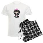 Cartoon Cat Princess (BW) Men's Light Pajamas