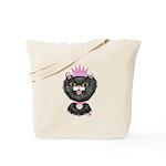 Cartoon Cat Princess (BW) Tote Bag