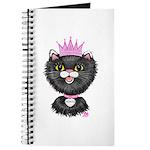 Cartoon Cat Princess (BW) Journal