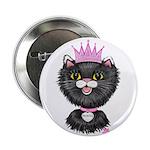 Cartoon Cat Princess (BW) 2.25