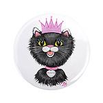 Cartoon Cat Princess (BW) 3.5