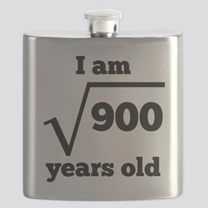 30th Birthday Square Root Flask