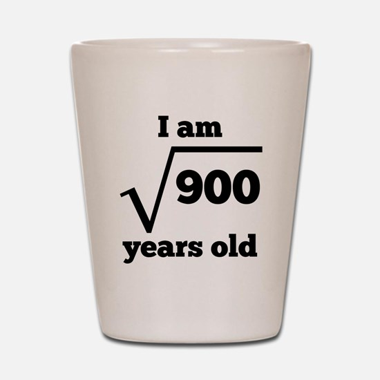 30th Birthday Square Root Shot Glass