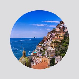Love Of Positano Italy Button
