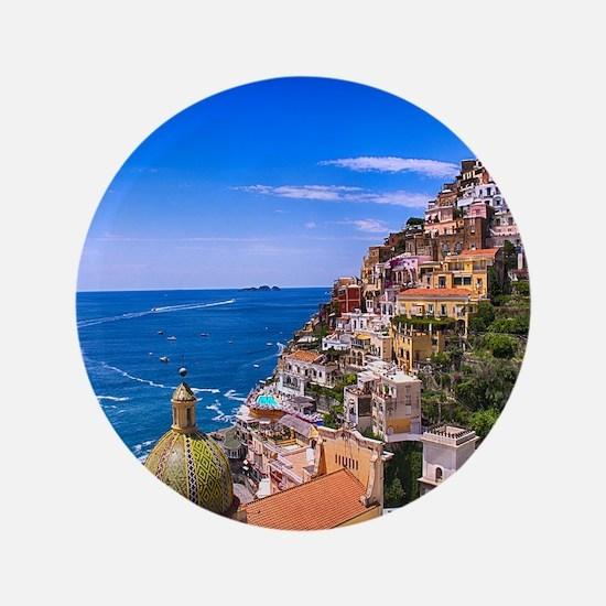Love Of Positano Italy Button