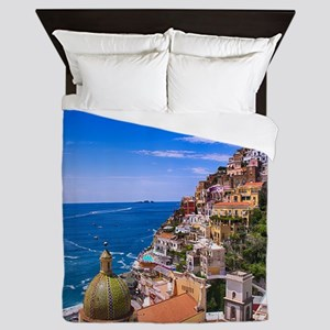 Love Of Positano Italy Queen Duvet