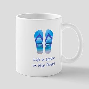 Life is Better in Flip Flops Fun Summer art Mugs