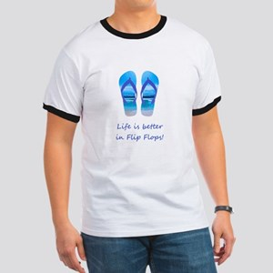 Life is Better in Flip Flops Fun Summer art T-Shir