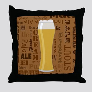 Types of Beer Series Print 7 Throw Pillow