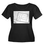 A Robot Running Into Itself Plus Size T-Shirt