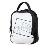 A Robot Running Into Itself Neoprene Lunch Bag