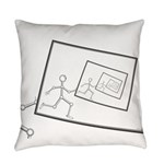 A Robot Running Into Itself Everyday Pillow