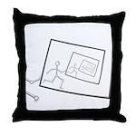 A Robot Running Into Itself Throw Pillow