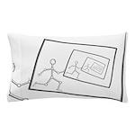 A Robot Running Into Itself Pillow Case
