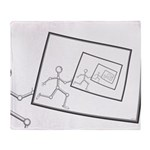 A Robot Running Into Itself Throw Blanket