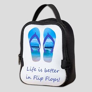 Life is Better in Flip Flops Fun Summer art Neopre