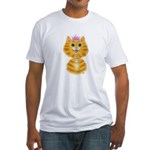 Orange Tabby Cat Princess Fitted T-Shirt