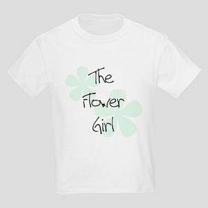 Flower Girl Green Flowers Kids T-Shirt