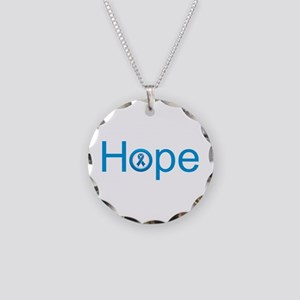 Colon Cancer Hope Necklace Circle Charm